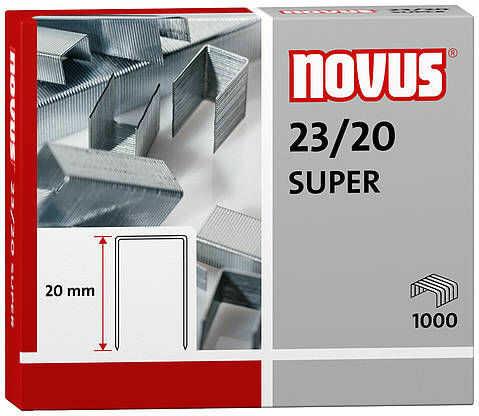 Zszywki Novus 23/20 SUPER x1000 zszywki do zszywaczy heavy duty wykonane z wysokiej jakości drutu