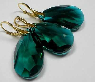 Kryształy kolczyki wisiorek kolory ZŁOTE SREBRO