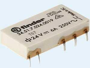 Przekaźnik 1NO 6A 24V DC, Styk AgNi+Au leżący 34.51.7.024.5319