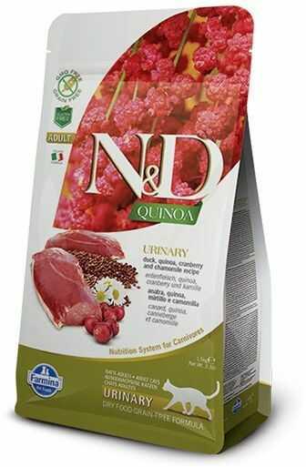 Farmina N&D Quinoa Urinary Duck Adult Cat - karma z komosą i kaczką wspomagająca układ moczowy dorosłych kotów