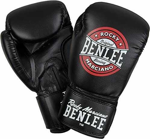 Benlee Rocky Marciano PRESSURE rękawice bokserskie, czarny/czerwony/biały, 12 oz