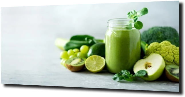 obraz na szkle, panel szklany Zielone owoce