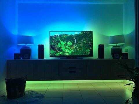 TAŚMA LED USB TV 2X50CM barwa niebieska