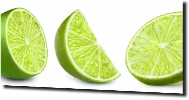 obraz na szkle, panel szklany Limonka owoc
