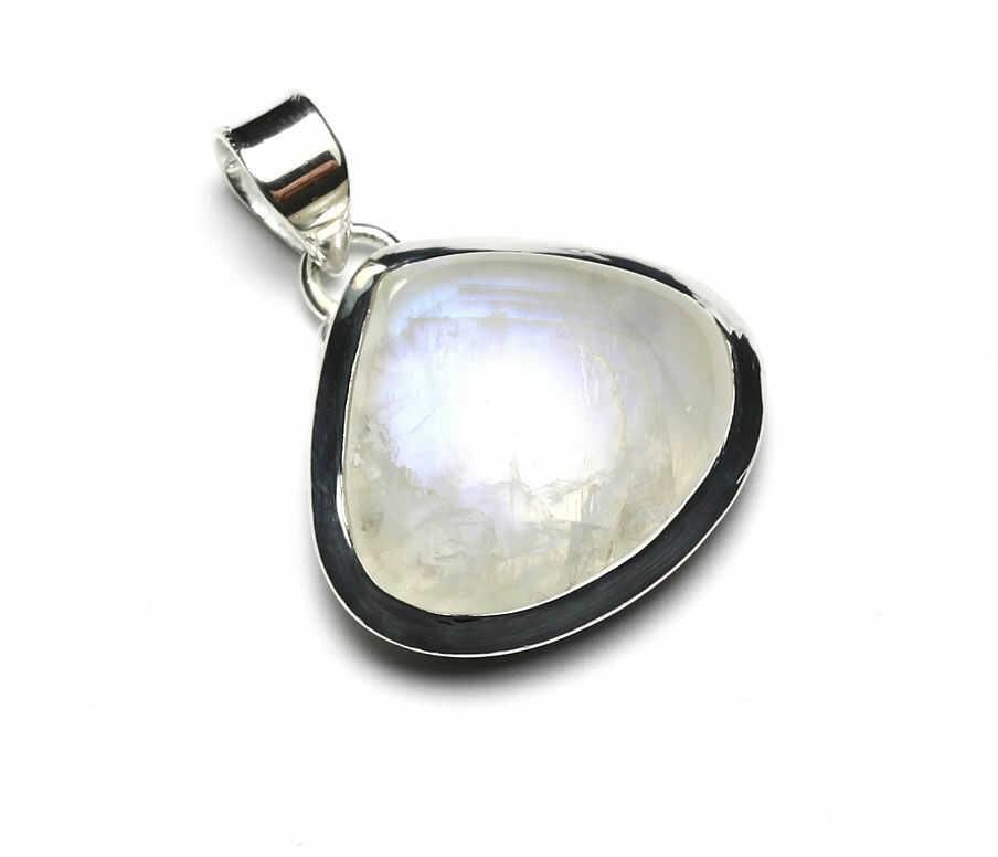 Kuźnia Srebra - Zawieszka srebrna, 31mm, Kamień Księżycowy, 8g, model