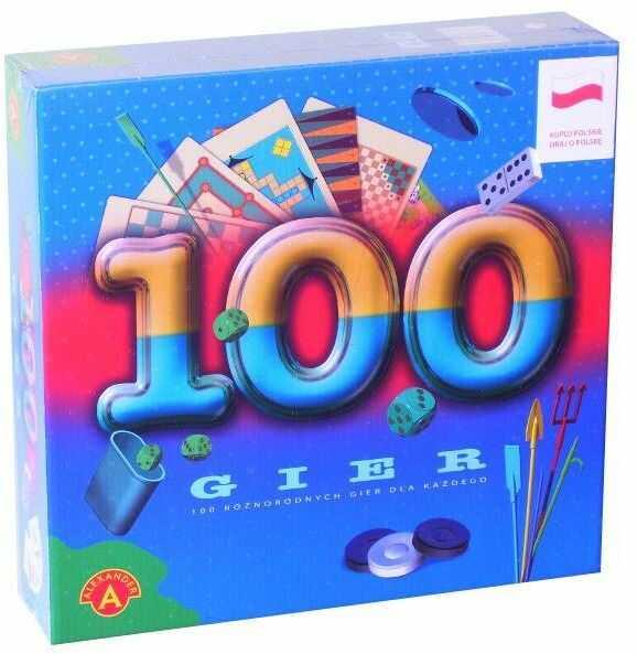 100 gier bierki, kości, pchełki, karty i inne. Gra planszowa