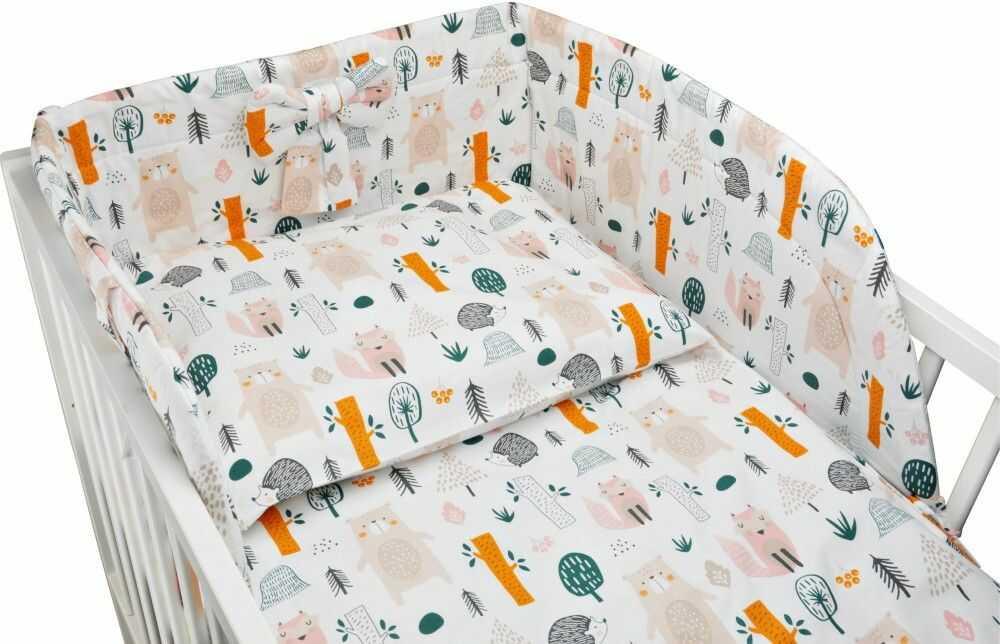 Bawełniana pościel do łóżeczka dziecięcego - LAS