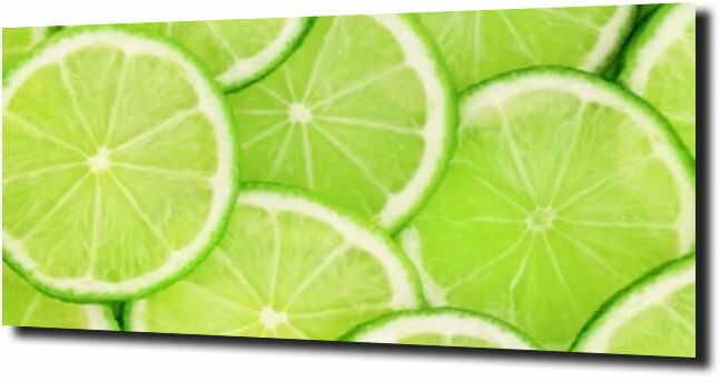 obraz na szkle, panel szklany Limonka kolaż