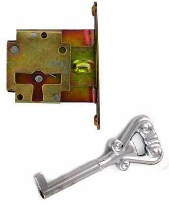 Zamek meblowy zwykły wpuszczany + klucz