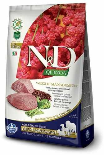 Farmina N&D Quinoa Weight Management Lamb & Broccoli Adult Dog - karma z komosą i jagnięciną dla dorosłych psów