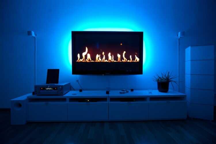 TAŚMA LED USB TV 2X50CM 4000K