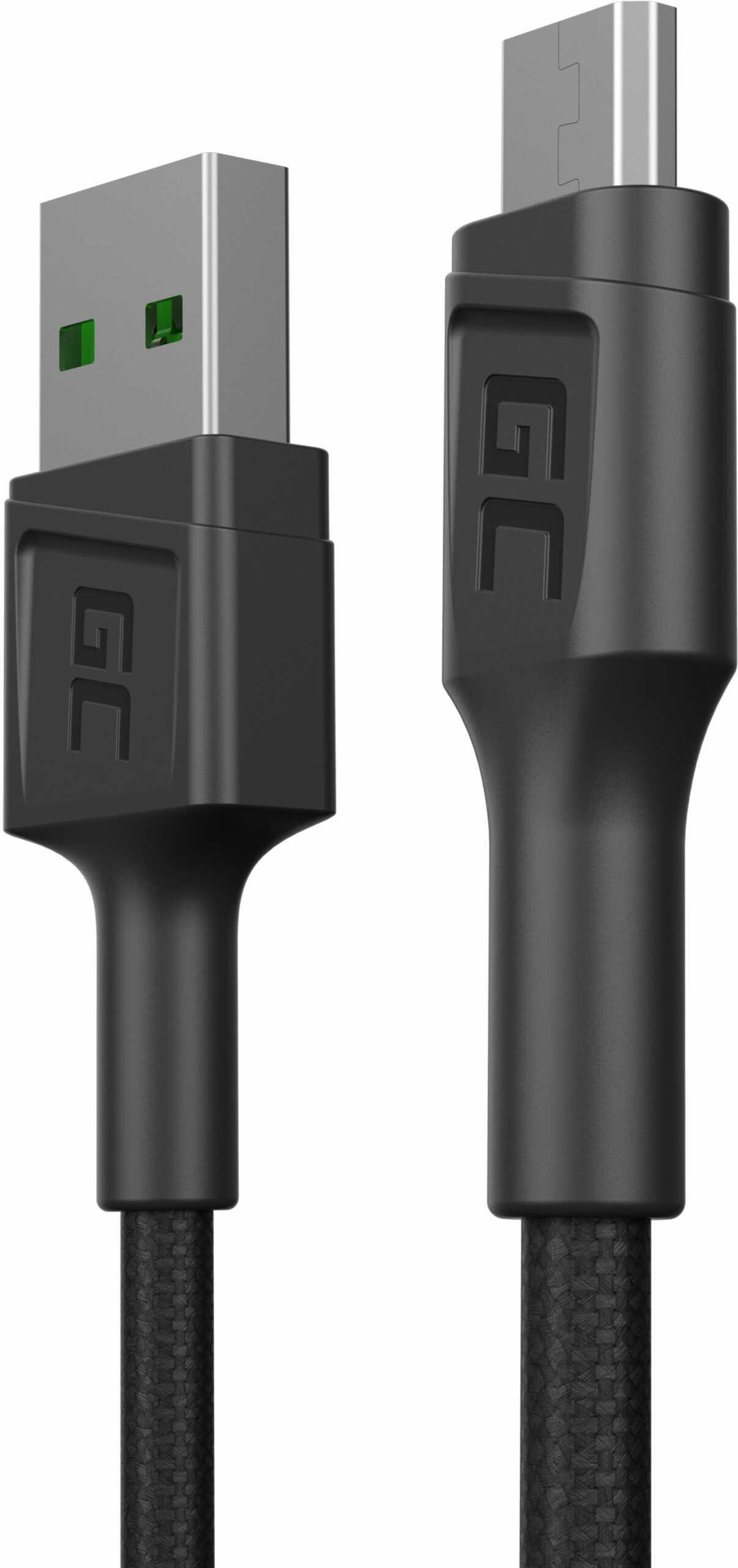 Kabel Green Cell GC PowerStream USB-A - Micro USB 30cm, szybkie ładowanie Ultra Charge, QC 3.0