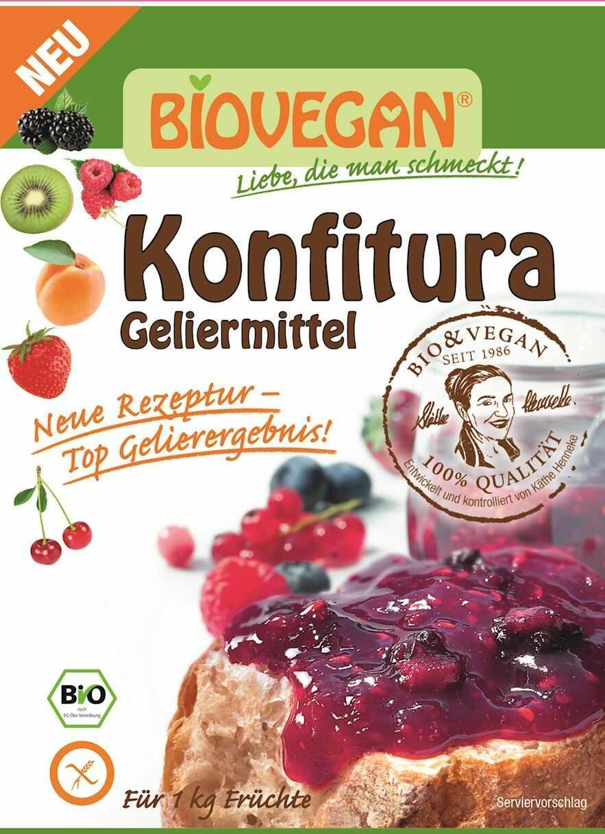 Środek żelujący do konfitur bezglutenowy bio 22 g - bio vegan