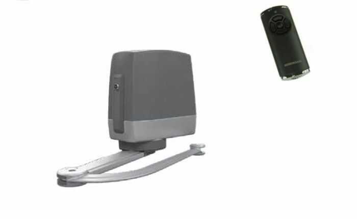 ZESTAW: napęd VersaMatic P 1 BiSecur (skrzydło do 3000 mm, do 300 kg) + pilot HS 5 BS (z funkcją sprawdzania statusu bramy)