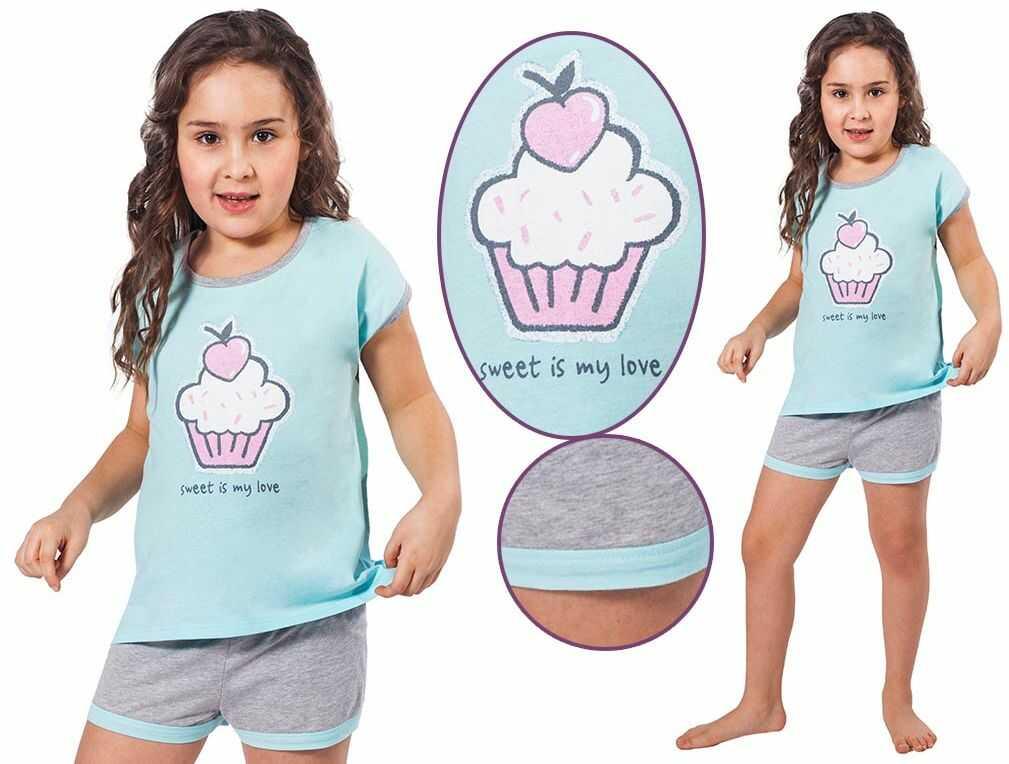 Piżama dziecięca COFFEE: błękit