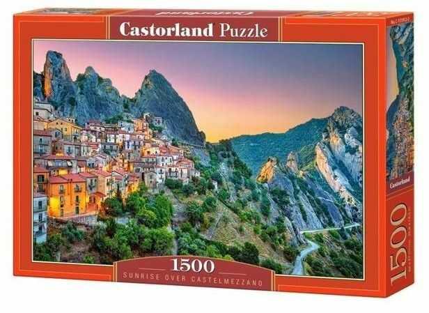 Puzzle 1500 Sunrise over Castelmezzano CASTOR