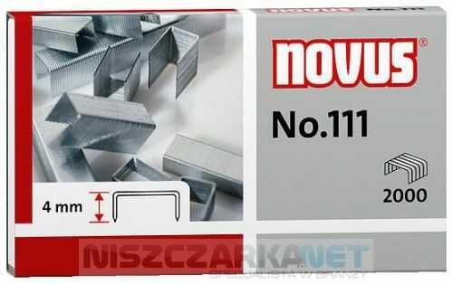 Zszywki Novus 111x2000 do zszywaczy nożycowych