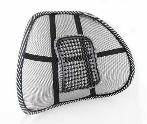 Podpórka pod plecy wspierająca odcinek lędźwiowy kręgosłupa - podkładka korekcyjna do siedzenia - większy komfort, dobra wentylacja, prosta postawa (I