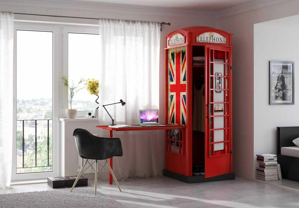 Szafa i biurko Angielska Budka Telefoniczna Plastiko