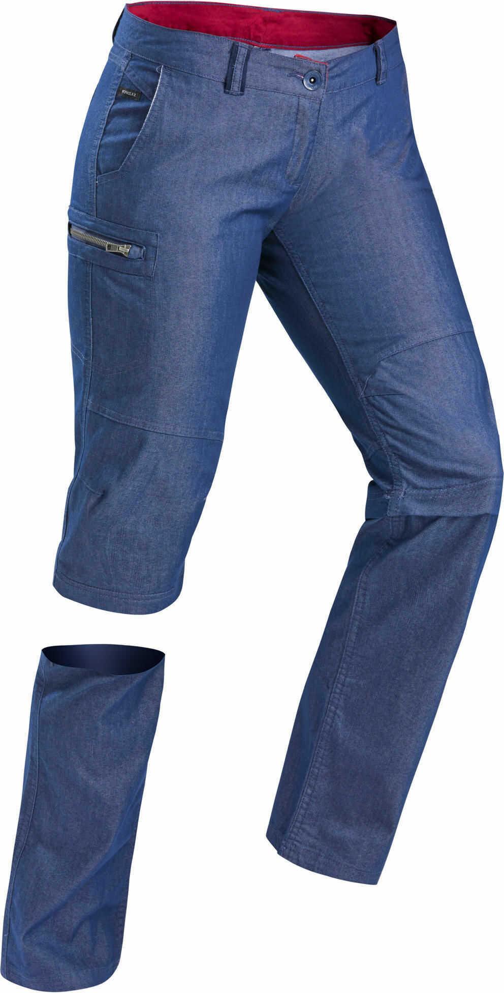 Spodnie turystyczne damskie 2w1 Forclaz TRAVEL 100