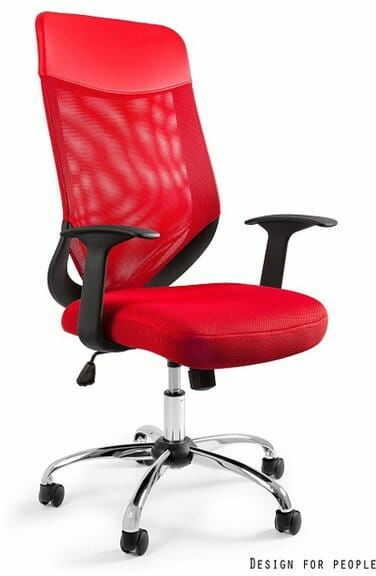 Fotel Biurowy Unique MOBI PLUS czerwony