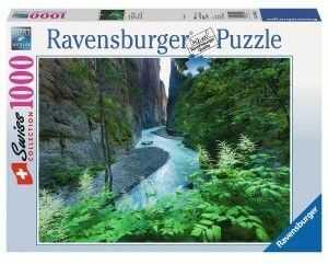 Puzzle Ravensburger 1000 - Aareschlut w Szwajcarii, Aareschlut in Switzerland