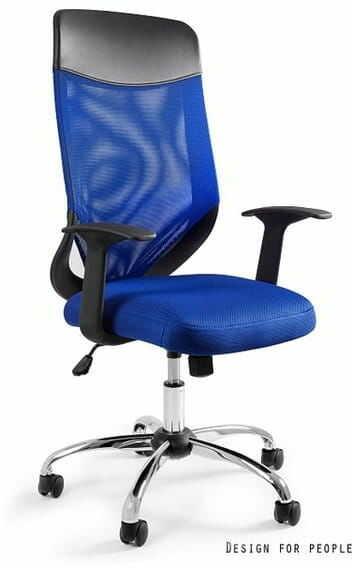 Fotel Biurowy Unique MOBI PLUS niebieski