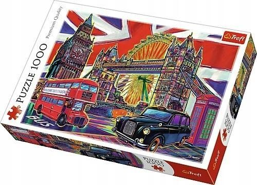 Puzzle TREFL 1000 - PQ - Kolory Londynu, Colours of London
