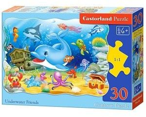 Puzzle Castor 30 - Podwodni przyjaciele, Underwater Friends