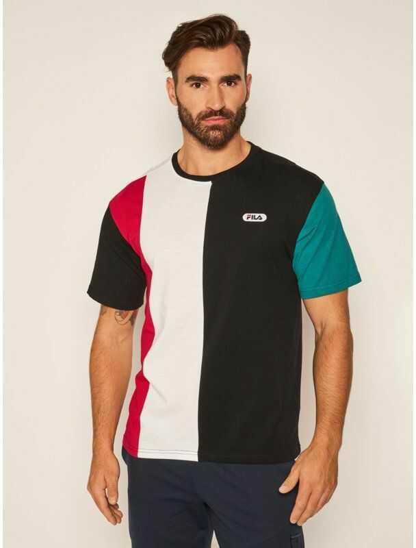 Fila T-Shirt Bansi Blocked 687960 Kolorowy Regular Fit