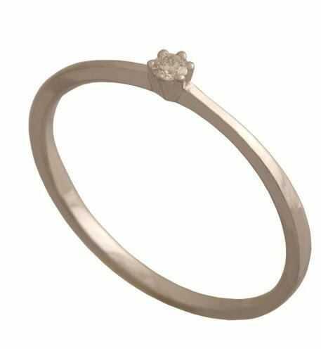 Złoty pierścionek z brylantem Dp171b
