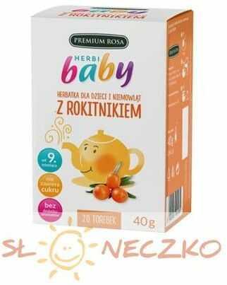 Herbatka dla dzieci i niemowląt z Rokitnikiem 20 torebek Premium Rosa