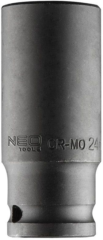 Nasadka udarowa 1/2cala długa, 24mm L78mm CR-MO 12-324