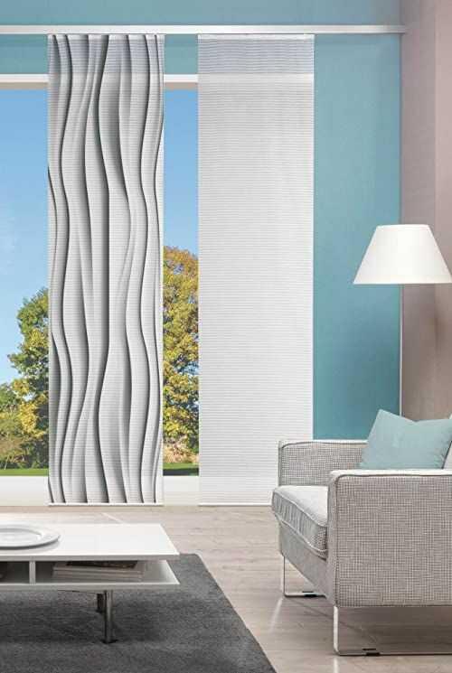 Vision S Zasłona przesuwna druk cyfrowy bambusowy welo, szara, 260 x 60 cm, 2