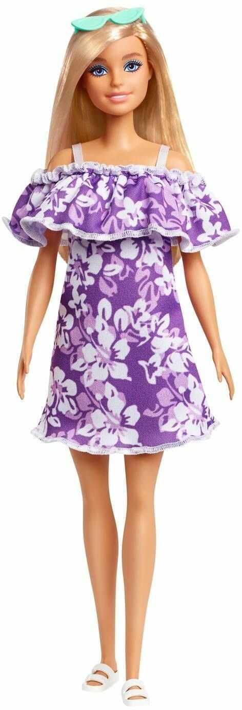 Barbie Loves the Ocean Wakacyjna lalka Fioletowa sukienka GRB35_GRB36