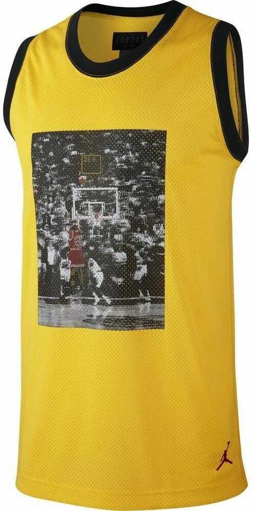 Nike JSW Last Shot Mesh Jersey, koszulka na ramiączkach, bez rozmiaru XL Tour Yellow/Nero/Gym Rosso