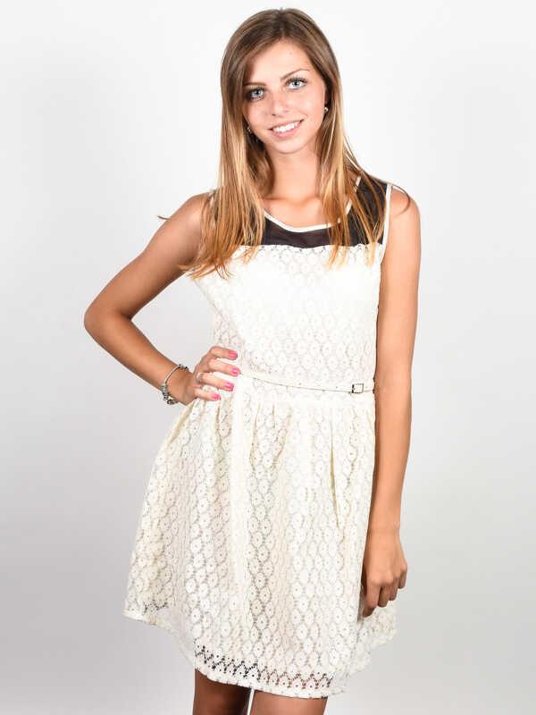 Picture Malou off white krótkie sukienki - XS