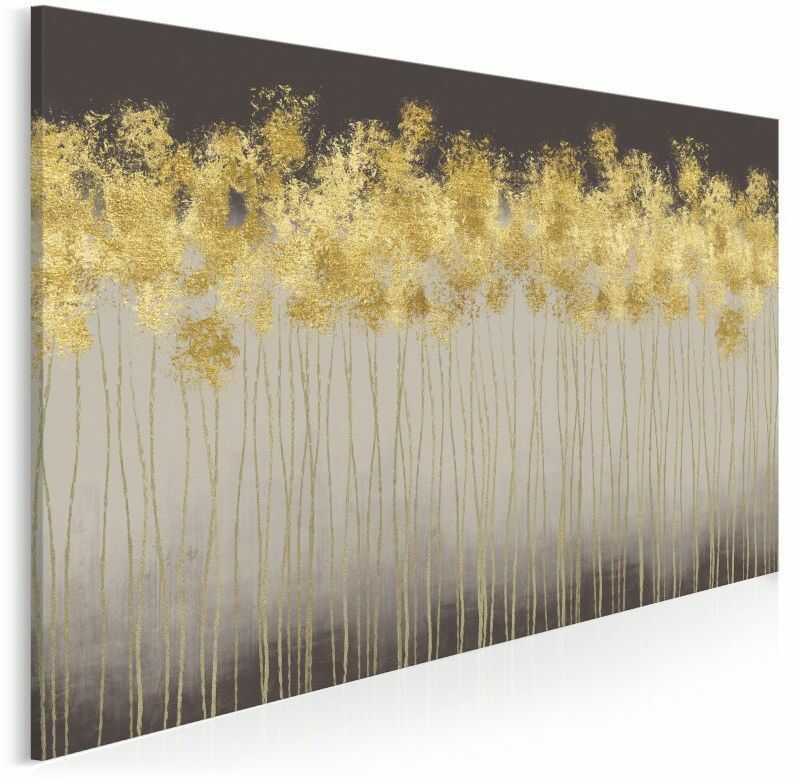 Złoty deszcz - nowoczesny obraz na płótnie - 120x80 cm
