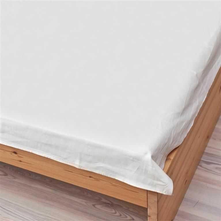 Prześcieradło satynowe proste białe 200  220 cm