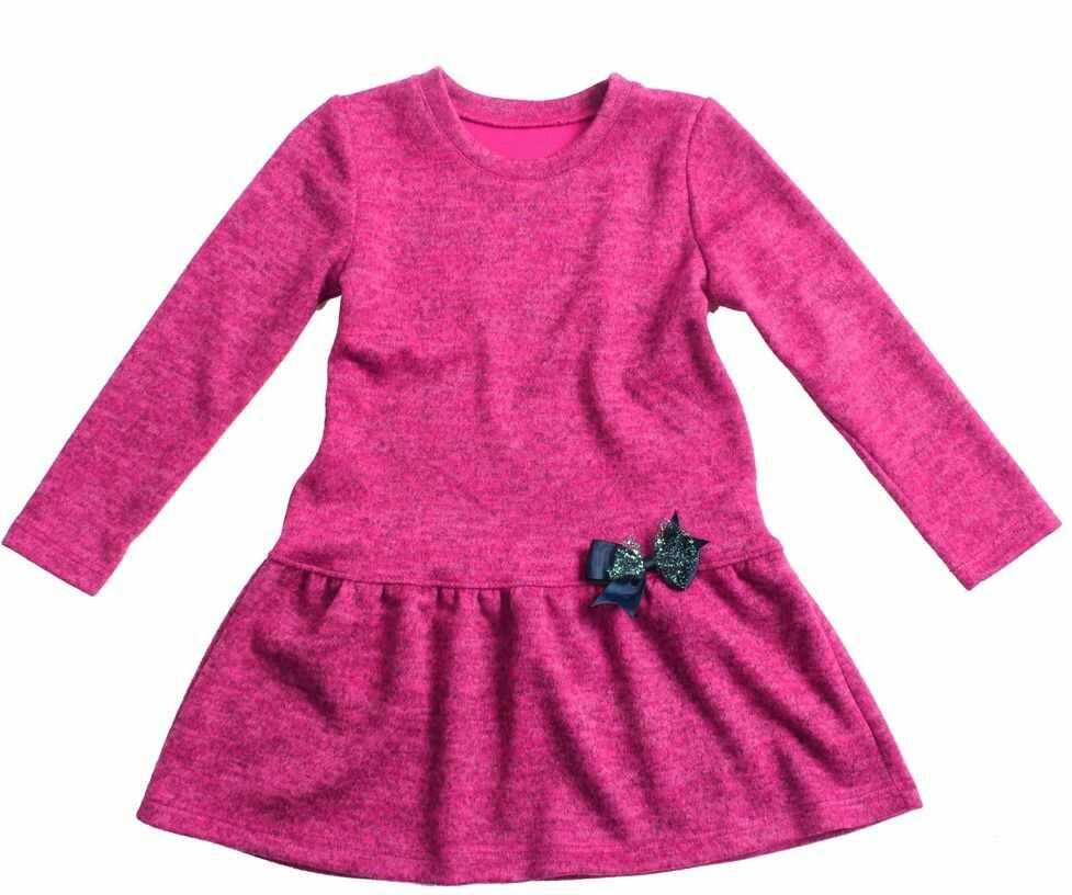 Dzianinowa sukienka dla dziewczynki 80-146 Zuza fuksja