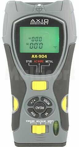 Bezdotykowy wykrywacz metali i napięcia Axiomet AX-904 z dalmierzem