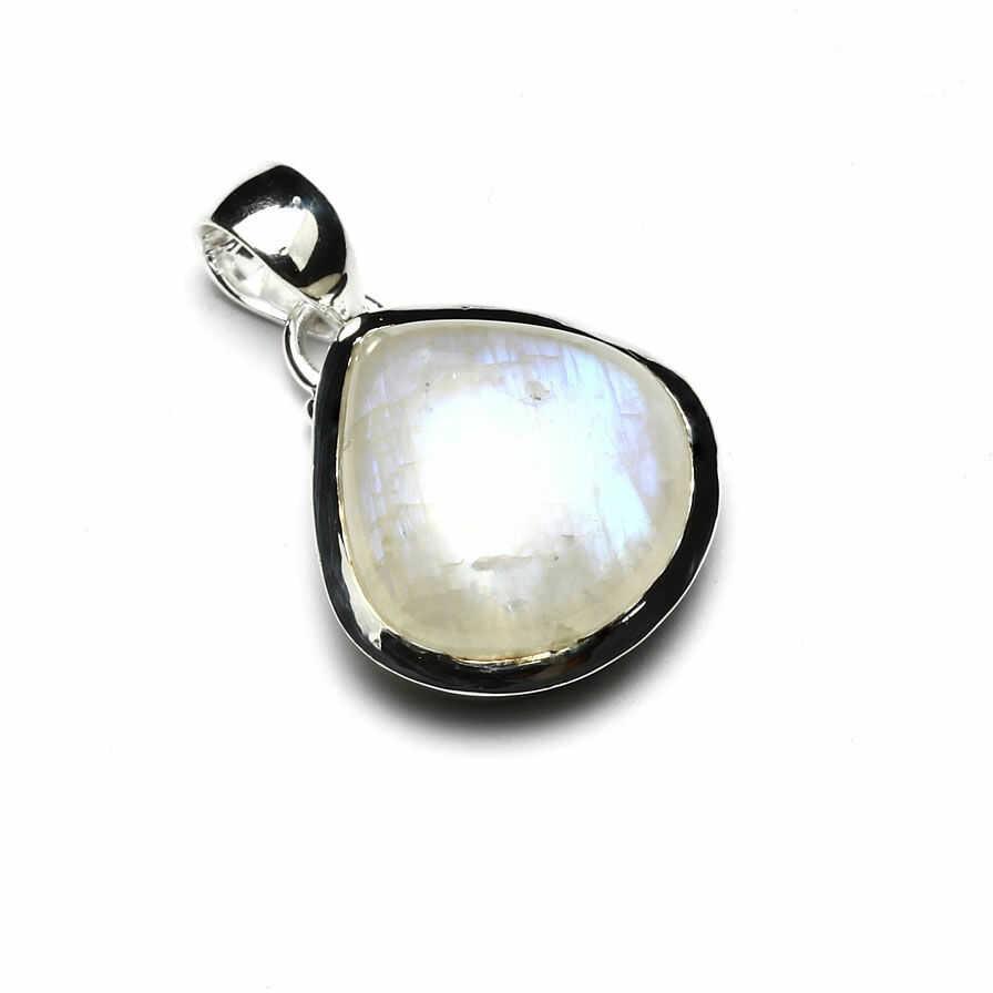 Kuźnia Srebra - Zawieszka srebrna, 30mm, Kamień Księżycowy, 6g, model