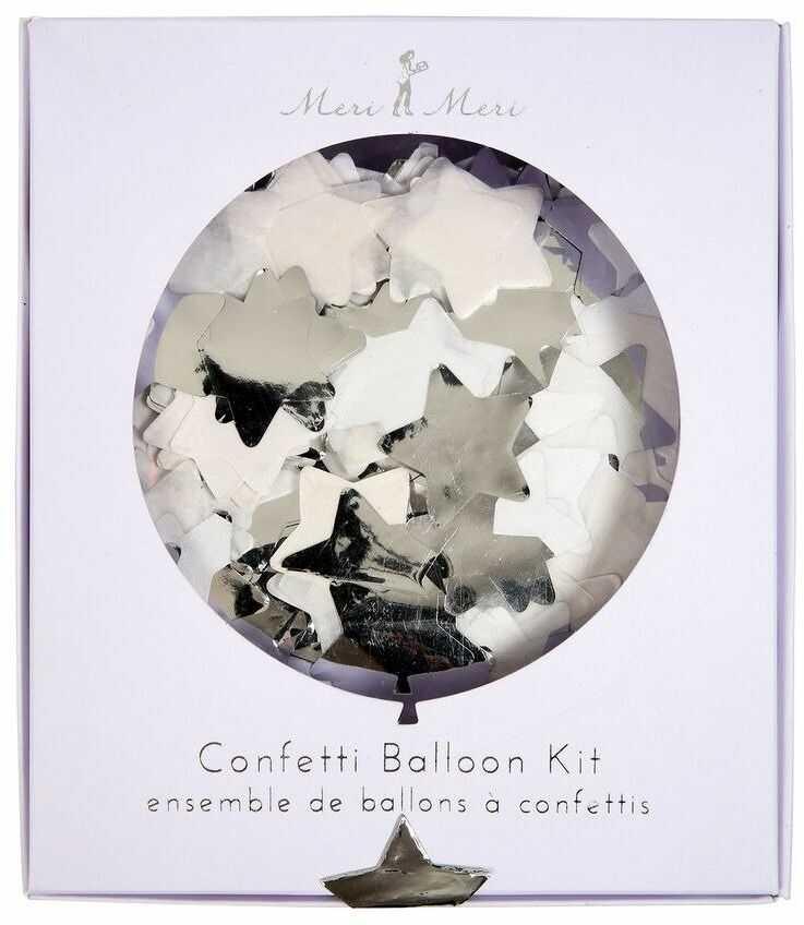 Meri Meri  Zestaw balonów Konfetti srebrne