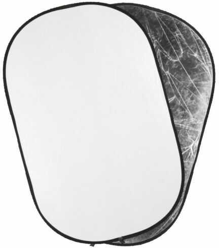 Quadralite 2w1 Silver-White - blenda owalna srebrno-biała, 90x120cm Quadralite 2w1 Silver-White 90x120cm