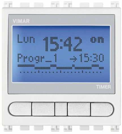 Programator czasowy 230V, biały