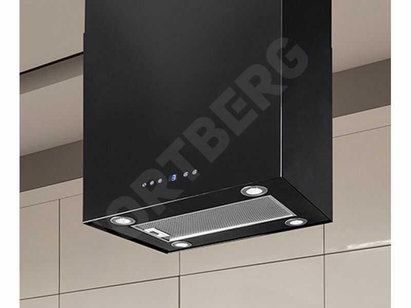 Okap wyspowy Quadro Max Black 60 cm