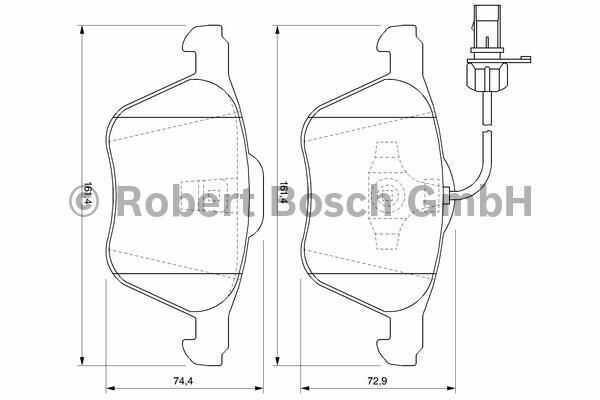 klocki hamulcowe Bosch - przód z czujnikiem