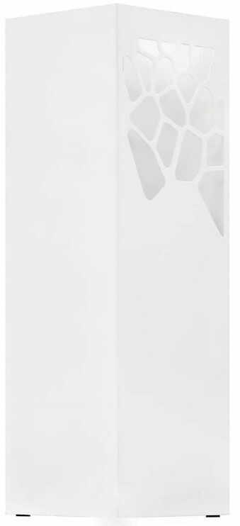 Biały prostokątny parasolnik z wzorem - Taso 2S