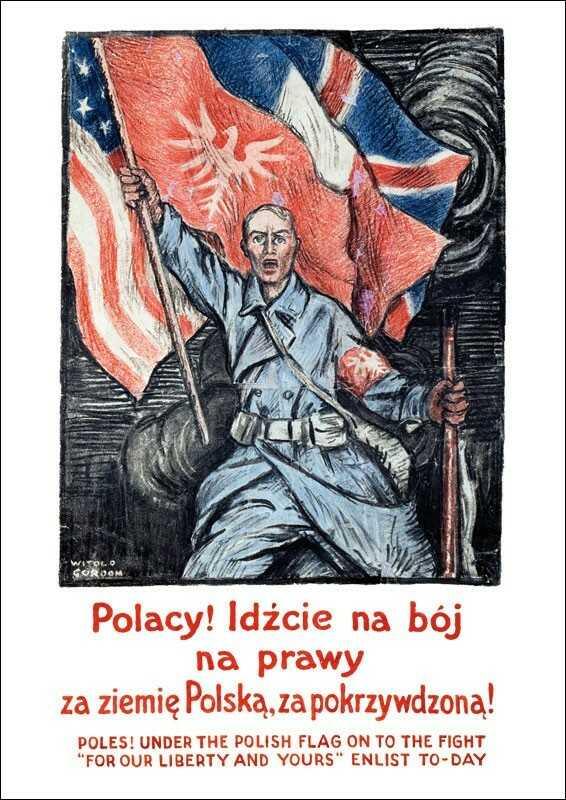 Plakat A3 - Polacy! Idźcie na bój na prawy za ziemię Polską A3-GPlak1920-017