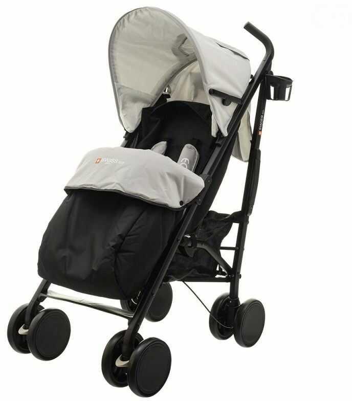Wózek eco swiss design 300d middle gray